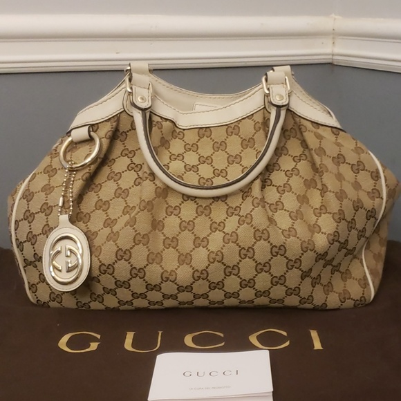 51a4f106e47f Gucci Handbags - SALE! NEVER USED GUCCI SUKEY GUCCISSIMA CANVAS